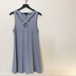 Dusty Blue Forever 21 Ribbed Dress